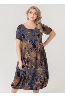 "Платье ""Агата 2"" Sparada (Серый/серые цветы)"
