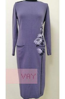 Платье женское 182-2368 Фемина (Черничный щербет/темно-синий/пыльная лаванда)