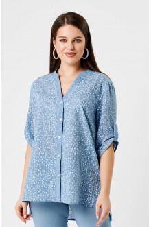 """Блуза """"Лина"""" 41108 (Синий принт)"""