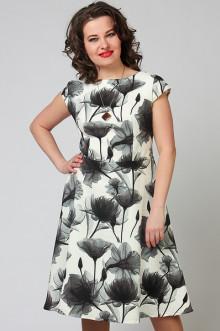 """Платье """"СКС"""" 2786 (Белый крем/черный)"""
