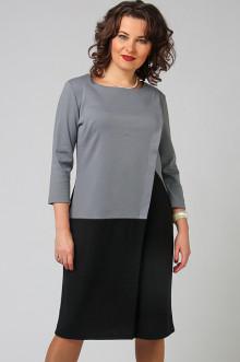 """Платье """"СКС"""" 3645 (Серый/черный)"""