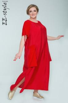 """Платье """"Её-стиль"""" 2028 ЕЁ-стиль (Красный)"""