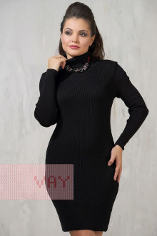 Платье женское 2235 Фемина (Черный)