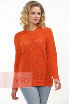 Джемпер женский 182-4640 Фемина (Апельсин)