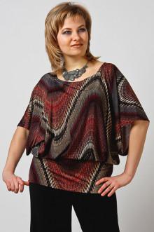 """Блуза """"СКС"""" 208 (Серо-коричневый дизайн)"""