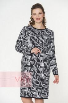 Платье женское 182-2331 Фемина (Черный/белый)